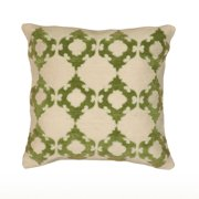 """Rizzy Home Decorative Poly Filled Throw Pillow Geometric 18""""X18"""" Green"""