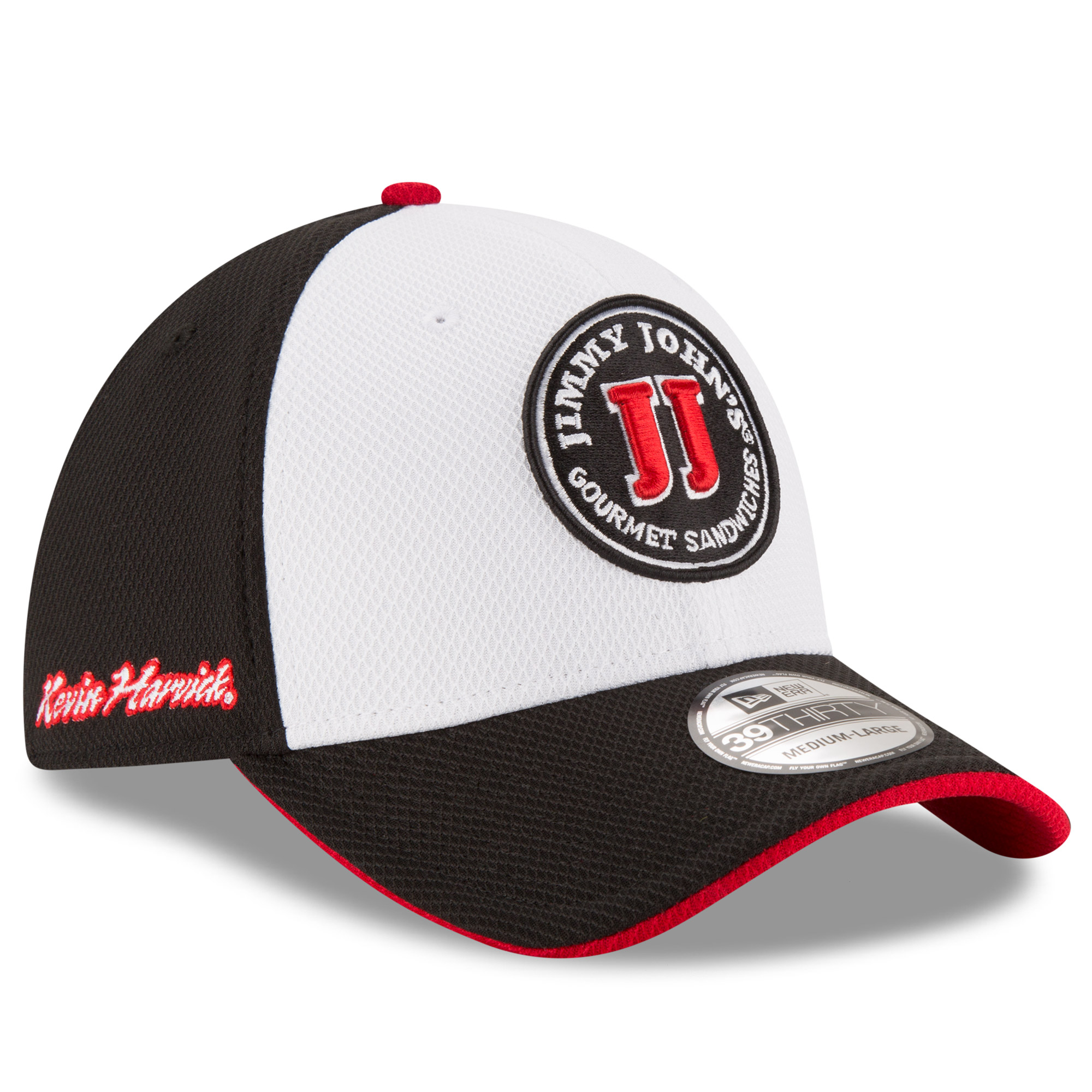 newest f14ba 28622 Kevin Harvick New Era Youth Jimmy John s Driver 39THIRTY Flex Hat - White  Black - OSFA - Walmart.com