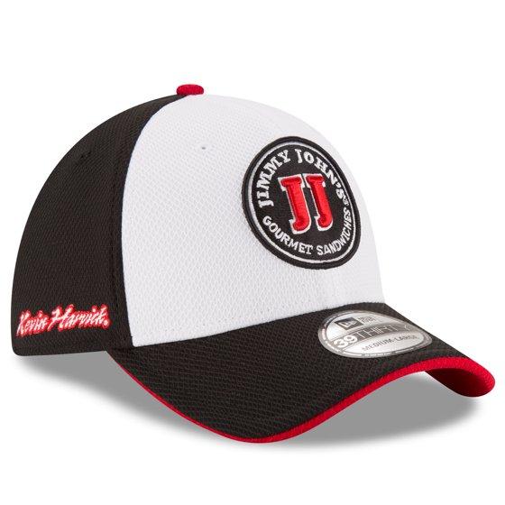 5e4b6e10ec3 Kevin Harvick New Era Youth Jimmy John s Driver 39THIRTY Flex Hat -  White Black - OSFA