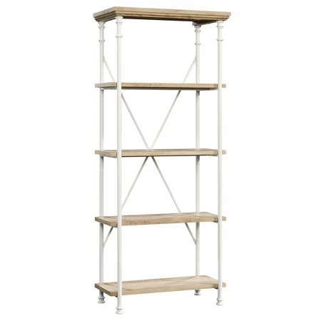 Sauder Canal Street 4 Shelf Bookcase in Coastal Oak and White ()
