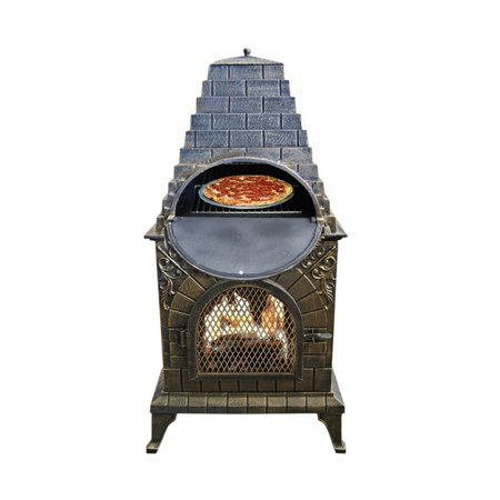 Deeco Aztec Allure Cast Iron Chimney Pizza Oven (Best Outdoor Wood Fired Pizza Oven)