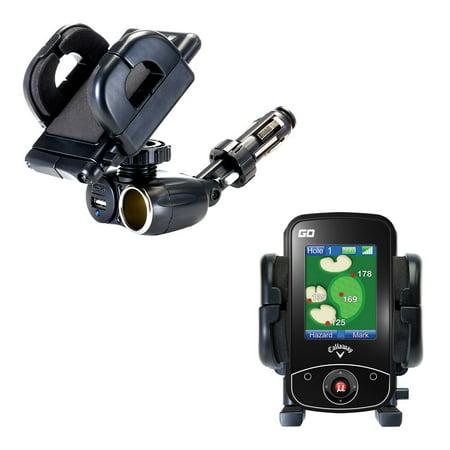 Golf Cigar Holder - Dual USB / 12V Charger Car Cigarette Lighter Mount and Holder for the uPro uPro GO Golf GPS
