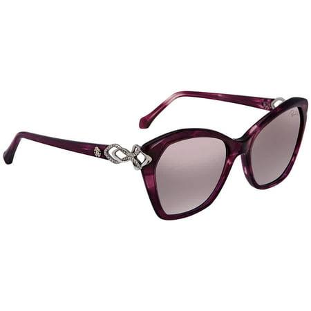 Roberto Cavalli Purple Mirror Butterfly Ladies Sunglasses (Roberto Cavalli Designer Sunglasses)