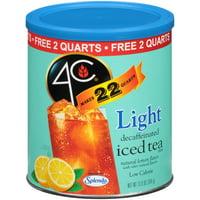 4C Light Naturally Decaffeinated Lemon Flavor Iced Tea Mix 13.9 oz. Canister