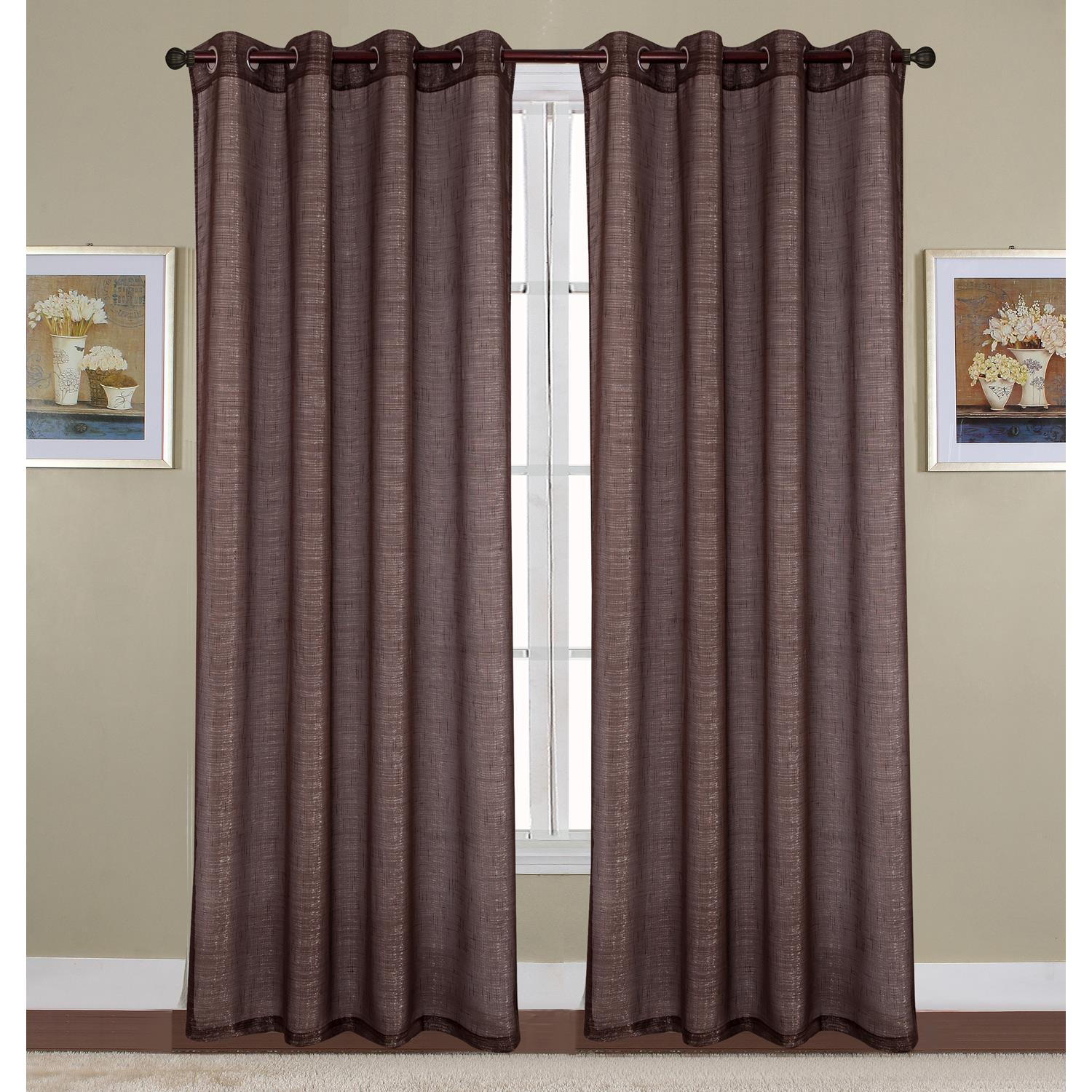 Sparkle Woven 54 x 90 in. Lurex Grommet Single Curtain Panel, White by Ramallah Trading Company, Inc.