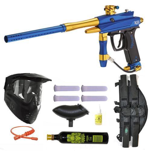 Azodin Kaos-D II Paintball Marker Gun 3Skull 4+1 9oz Mega Set by