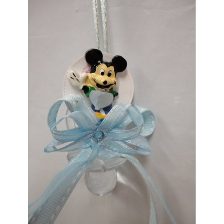 CHARMED Mickey Mouse Pacifier Necklaces Baby Shower Games Favors Prizes 12PC; BLUE](Baby Shower Pacifier Necklace)