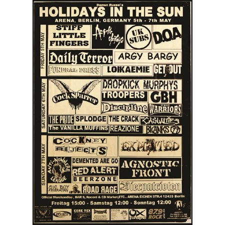 Holiday in the Sun by Annex Punk Rock Music Festival Vintage Concert Art Print - Halloween Concert Flyer