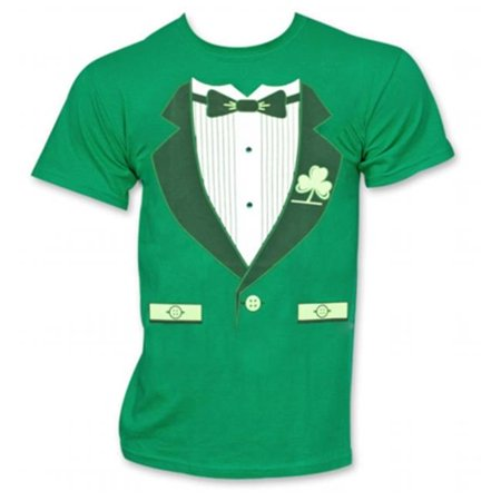 St. Patricks Day 19268XL Irish Tuxedo Novelty Graphic Green T-Shirt, Extra -