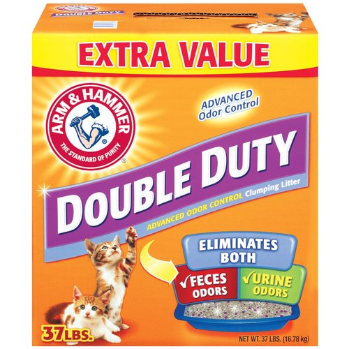 Arm & Hammer Double-Duty Advanced Odor Control Clumping Cat Litter, 37 Lb