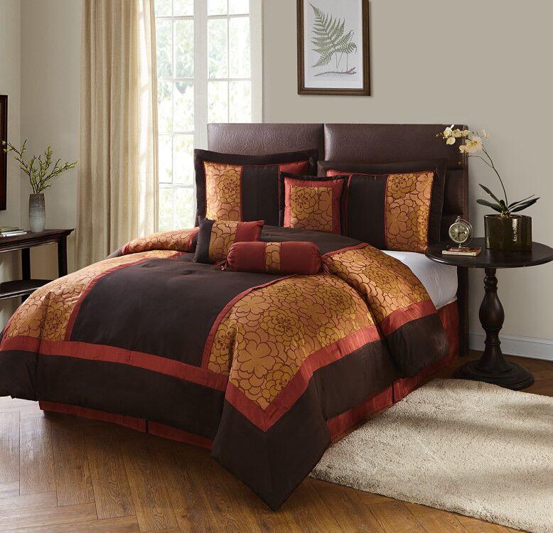 Sybil 7-Piece Bedding Comforter Set by Generic