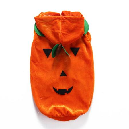 Mosunx Halloween Pet Dog Dresses Ghost Festival Dress Up Jacket Pumpkin Section Clothes