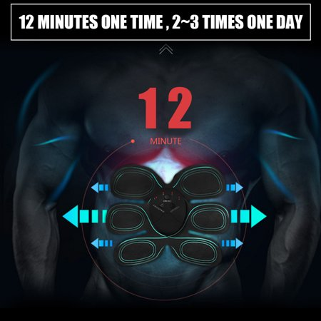 6 Modes Electric Abs Muscle Stimulator Patch Training Body Shape Fit Set Fitness Massage Home Trainer - image 6 de 14