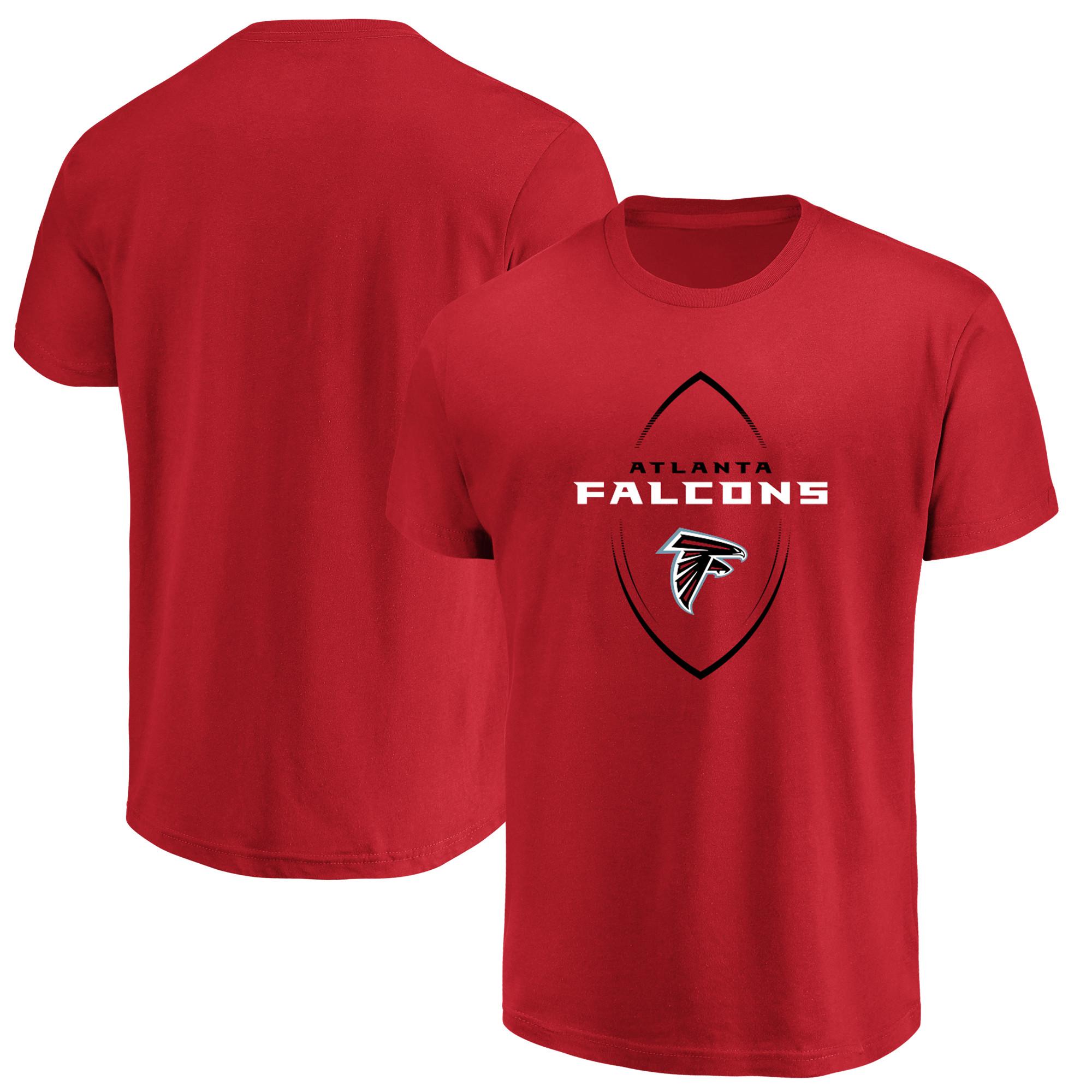 Atlanta Falcons Majestic Maximized Crew Neck T-Shirt - Red