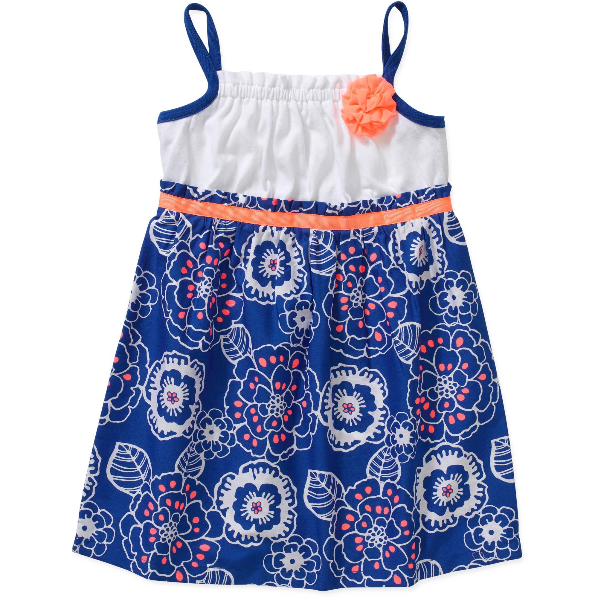Baby Toddler Girl Essential Summer Knit & Woven Rosette Dress