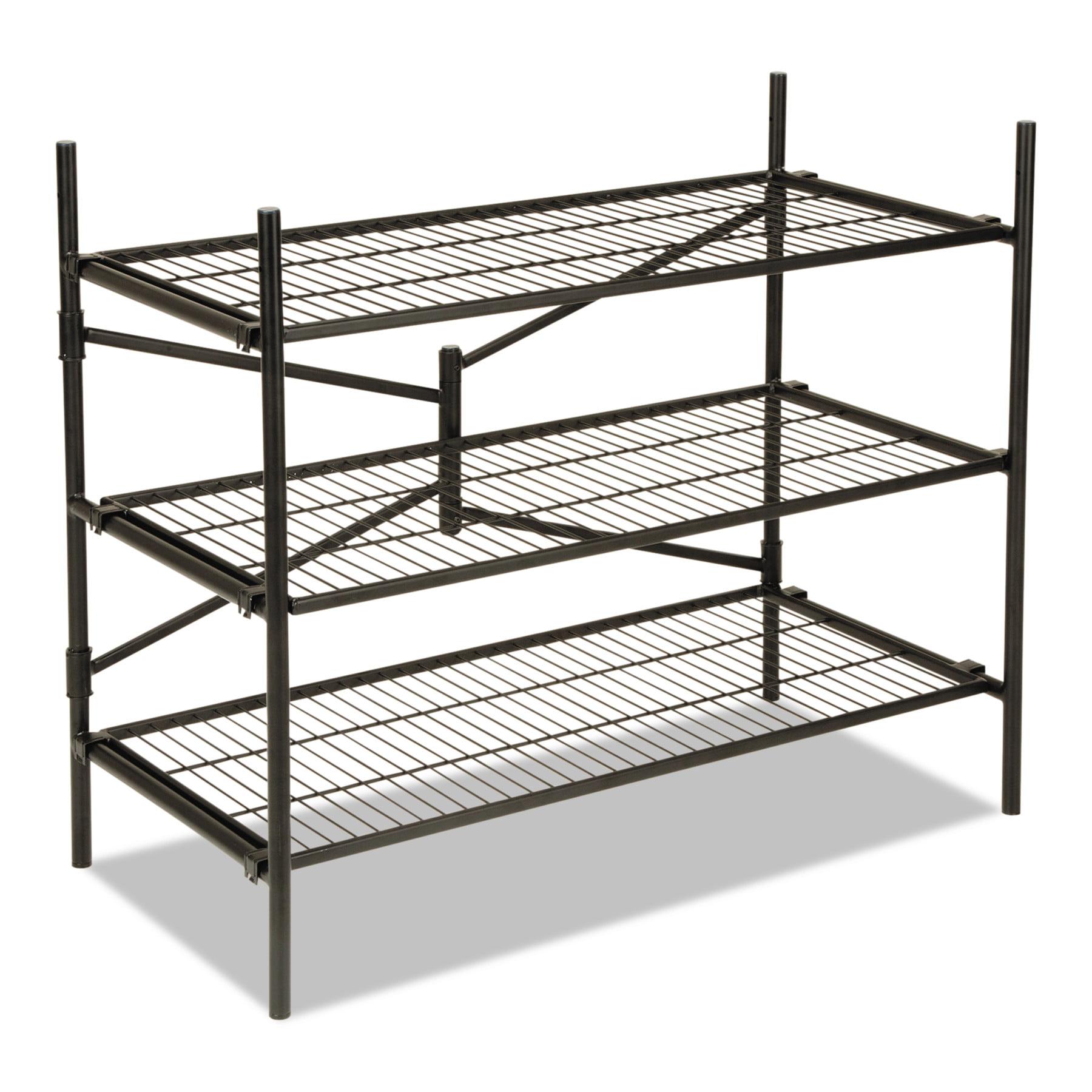 Cosco Instant Storage Shelving Unit, 3 Shelves, Black