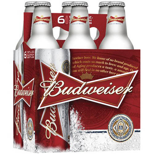 Budweiser Beer, 16 fl oz, 6 pack