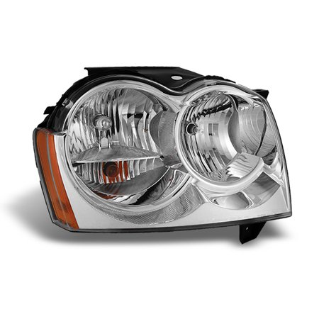 Fit 2005 2006 2007 Jeep Grand Cherokee RH Passenger Side Headlight (2005 Jeep Grand Cherokee Check Engine Light)