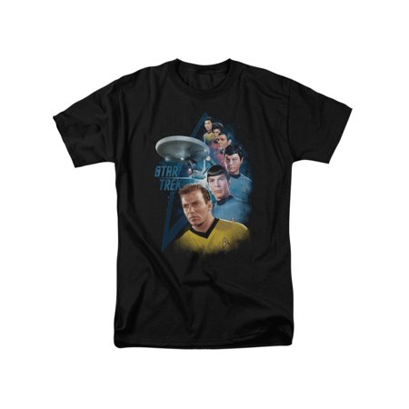 Star Trek TV Series Among The Stars Kirk Spock Scotty McCoy Sulu Adult T-Shirt