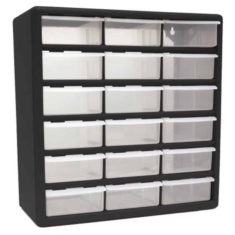 Homak HA01018001 18-Drawer Plastic Parts Organizer