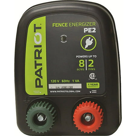 Duty Electric Fence Energizer (Patriot PE2 Fence Energizer, 0.10 Joule )