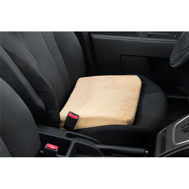 care apparel 0227mv-0-tan seat riser velour cover memory foam, tan