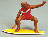 2 ct Surfer On Surfboard Cake Adornments (4 inches)