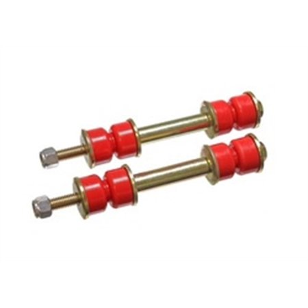 Energy Suspension Universal 2-3/8 Inch Red Front/Rear Sway Bar Fixed Length End Links w/ Hardware