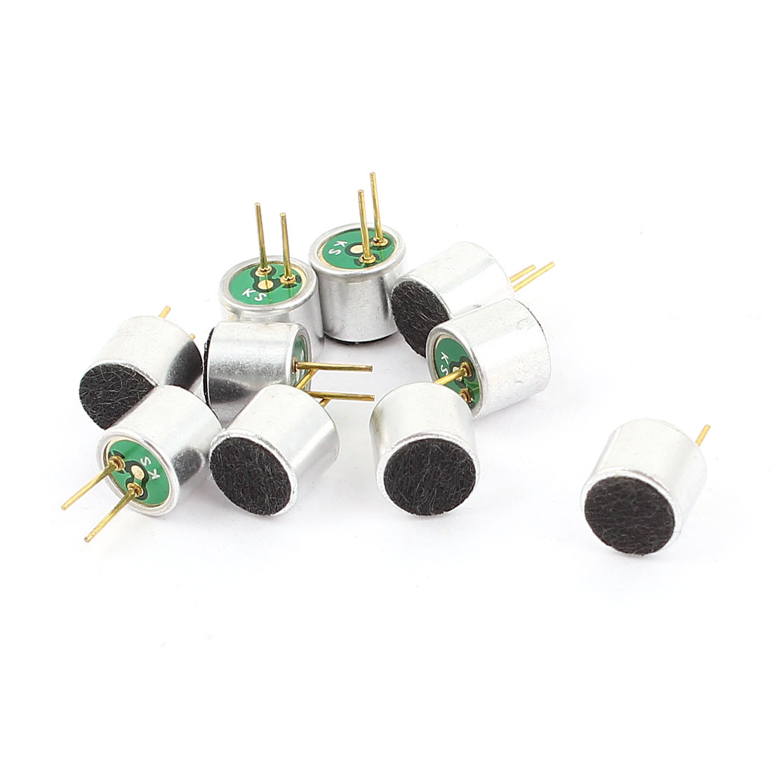 10 Pieces Cylinder Shaped 2Pin Electret Condenser Microphone MIC Pick-up 6mmx5mm by
