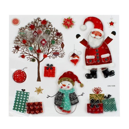 Christmas Xmas Colourful Santa Claus Tree Presents 3D Stickers - image 2 de 2