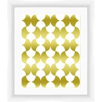 Gold Shape 3A Wall Art, 17.75x17.75