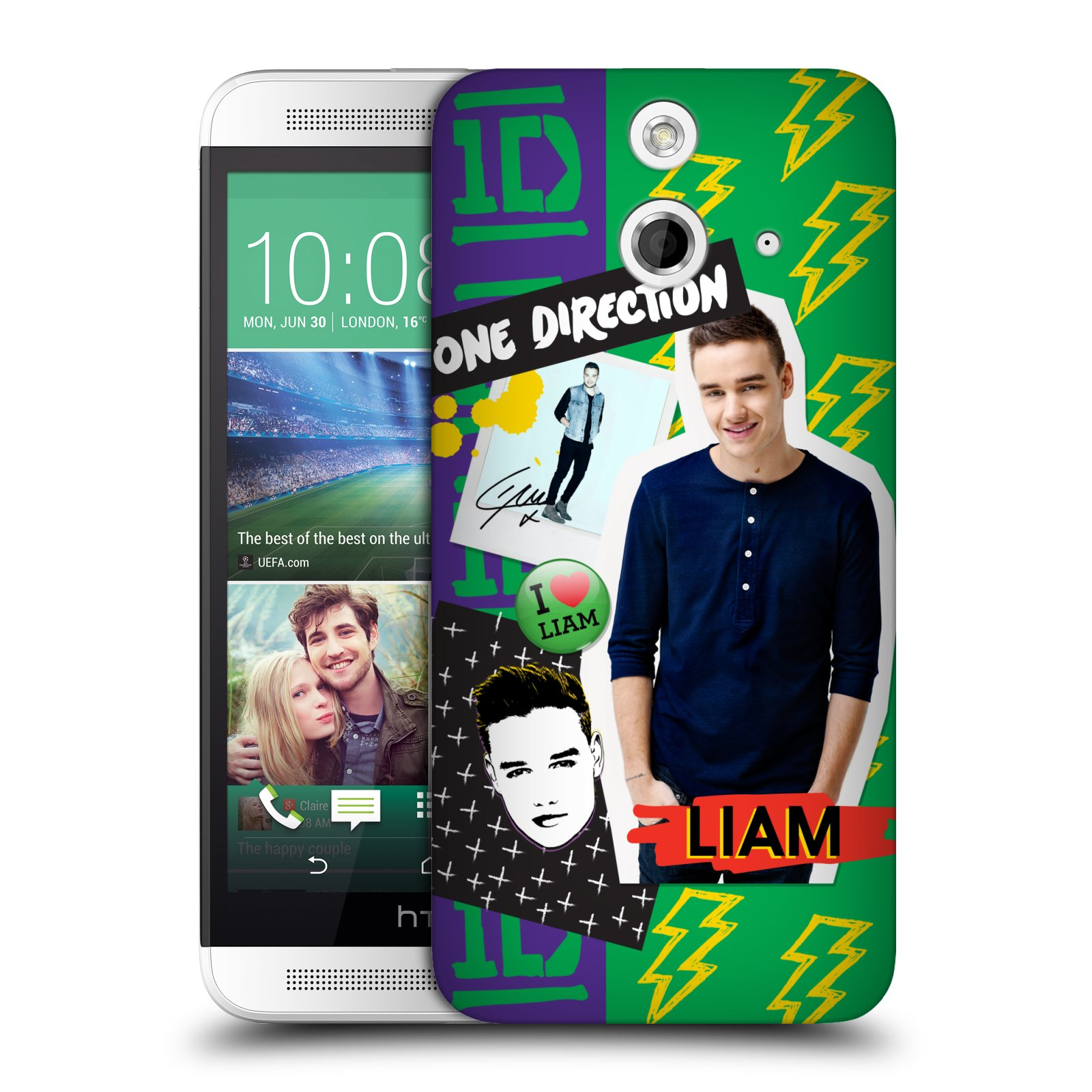 OFFICIAL ONE DIRECTION LOCKER ART SOLO HARD BACK CASE FOR HTC PHONES 3