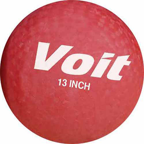 "Voit 13"" Playground Ball, Red"