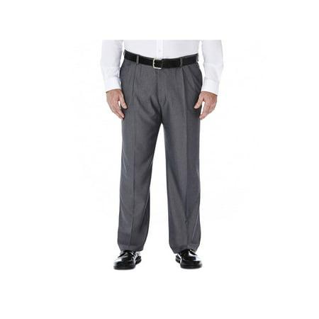 Haggar Men's Big & Tall Cool 18® Htr. Solid Pleat Pant Classic Fit 41714276486 (Dockers Classic Pleated)