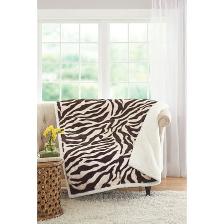 Better Homes And Gardens Faux Fur And Sherpa Throw Blanket