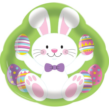 Creative Converting Easter Bunny 14 Inch Plastic Tray
