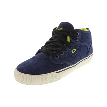 Globe Motley Mid Blue / Antique Ankle-High Leather Skateboarding Shoe -