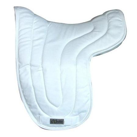 Exselle 157173WT Dressage Double Back Saddle Pad, White