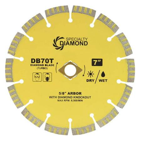 Segmented Dry Diamond Blade (Specialty Diamond DB70T 7