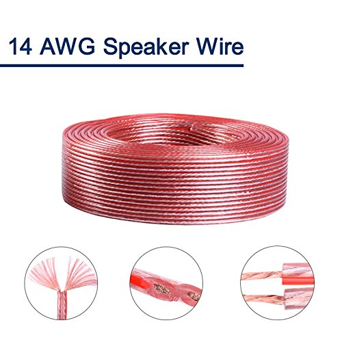Wellite 14 Gauge AWG Car Audio Speaker Wire,True Spec Stranded Wire Cable-20ft
