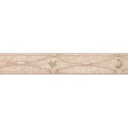 York Wallcoverings Retro Design 15' L x 4'' W Beautiful Wicker Fence with Pinecone Wallpaper Border (Beautiful Wallpaper)