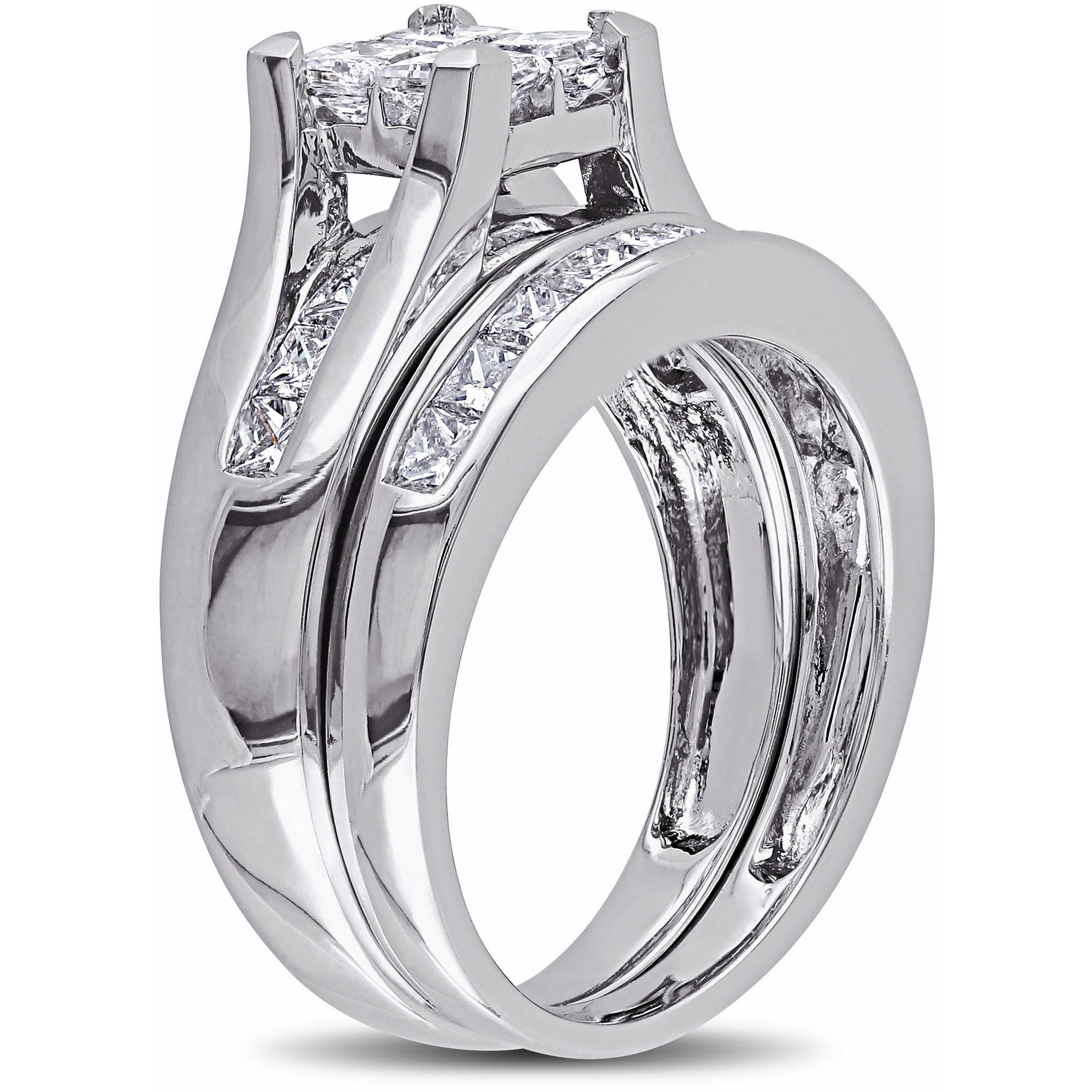walmart bridal platinaire diamond sets w quad com carat jewellery always forever t set ip