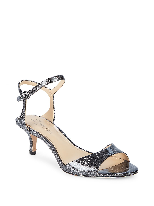 Im-Keire Kitten Heel Leather Sandals