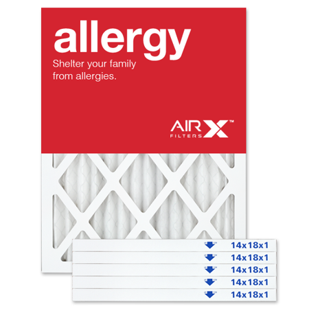 airx filters allergy 14x18x1 air filter merv 11 ac furnace pleated ...