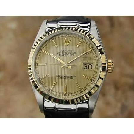 Rolex Vintage Ref 16013 Swiss Made Men 18K Gold Stainless St 1986 Watch