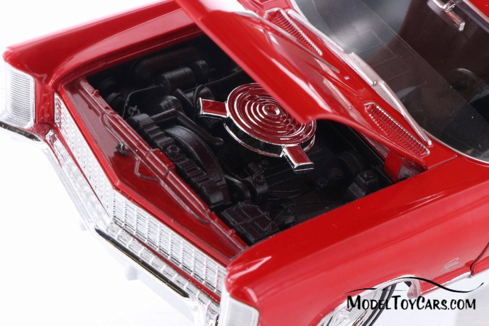 WELLY 24072 1965 BUICK RIVIREA GRAN SPORT 1//24 DIECAST MODEL CAR RED