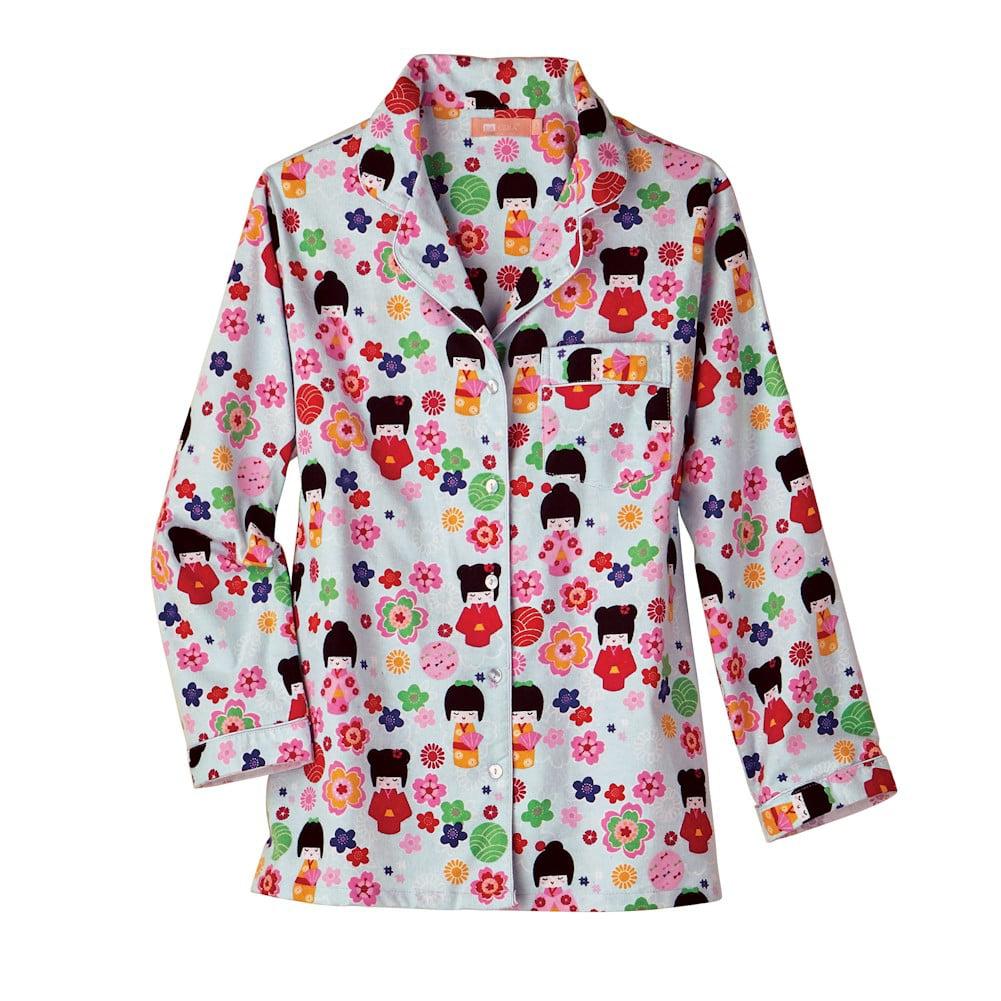 b16b370648 Lacera - Women s Maiko Doll Flannel Pajamas - Cute PJs - Walmart.com