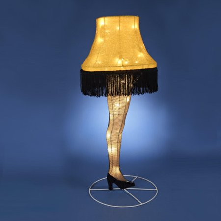 28 A Christmas Story Three Dimensional Leg Lamp Lighted
