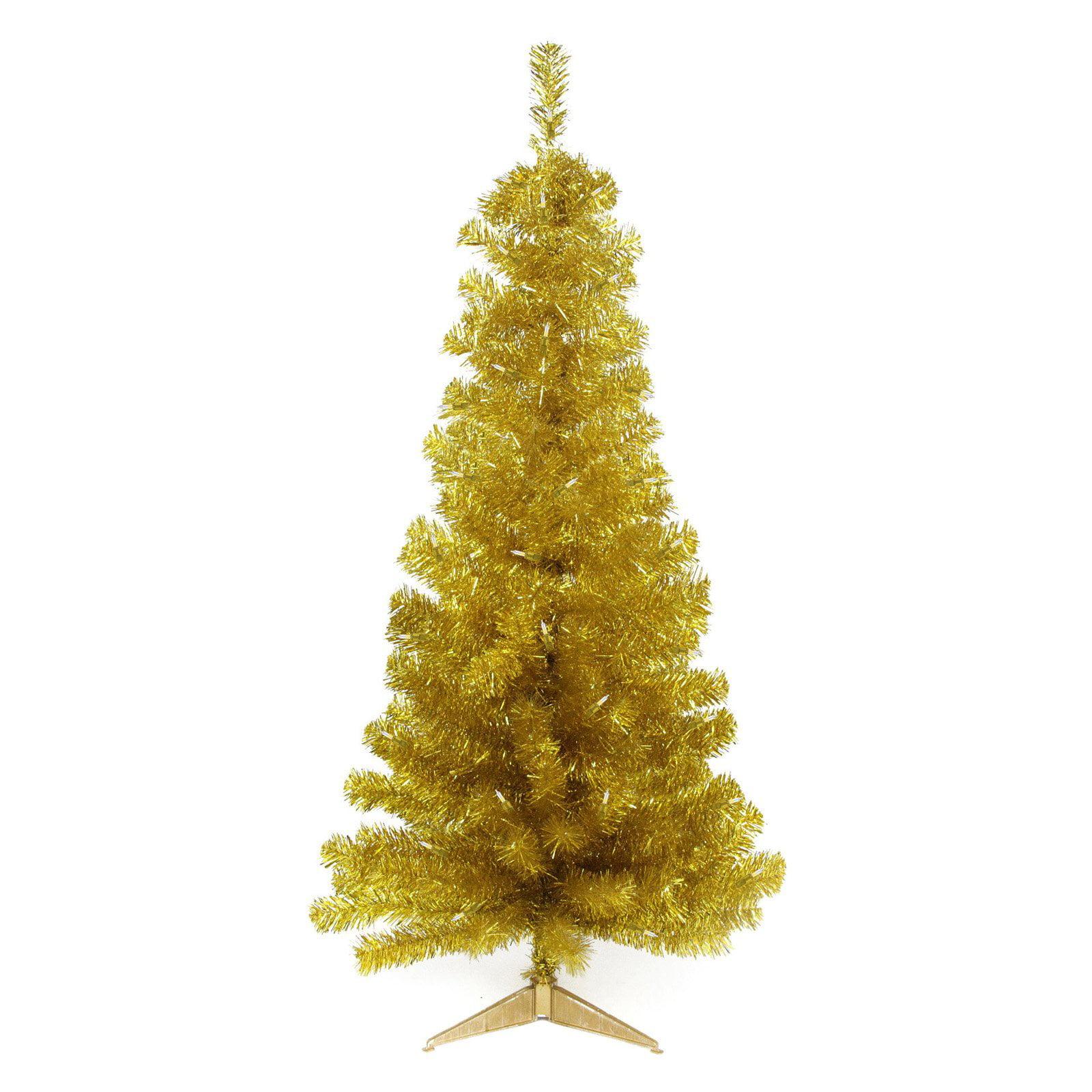 Northlight 4 ft. Pre Lit Slim Tinsel Christmas Tree