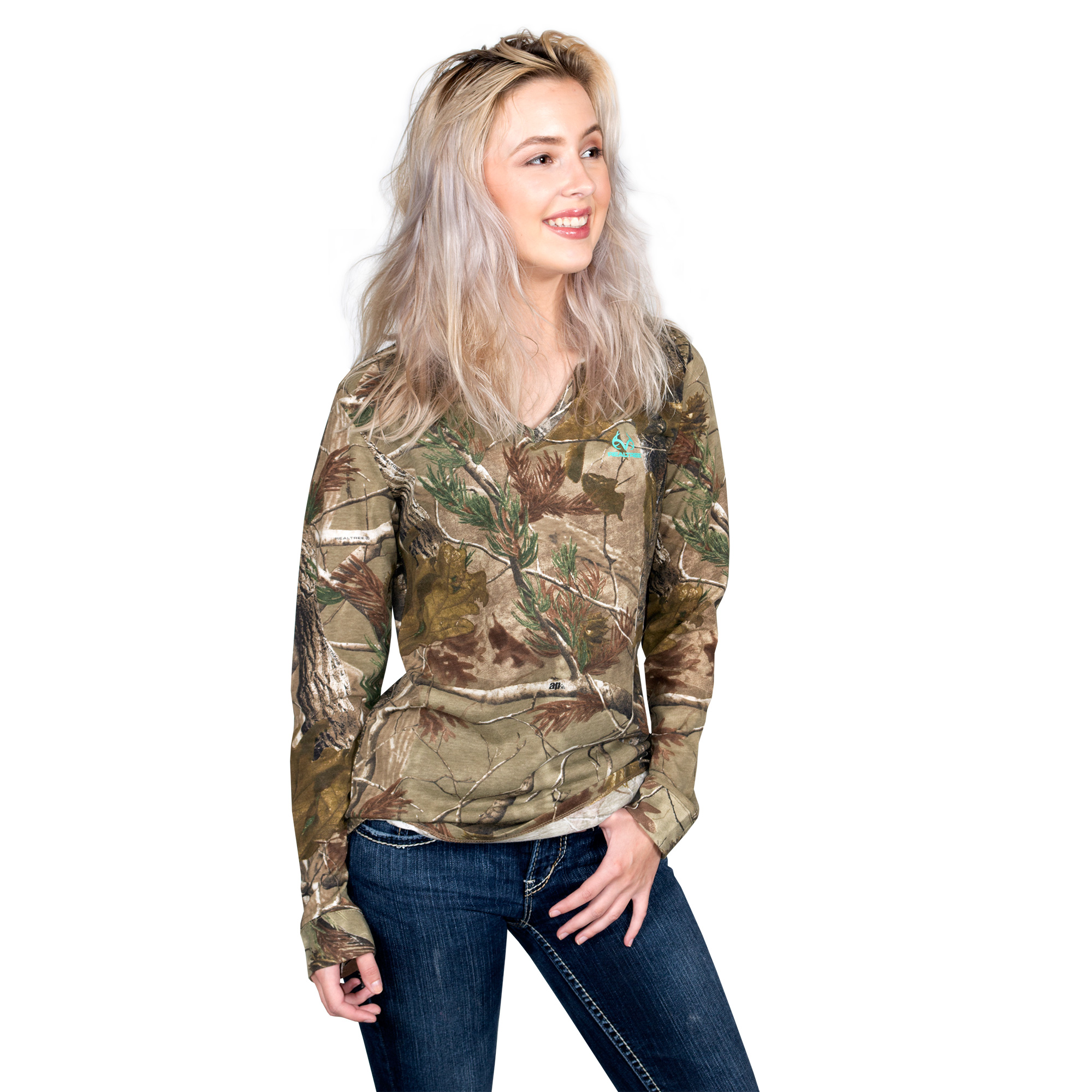 Realtree Ladies Long Sleeve Camo Shirt